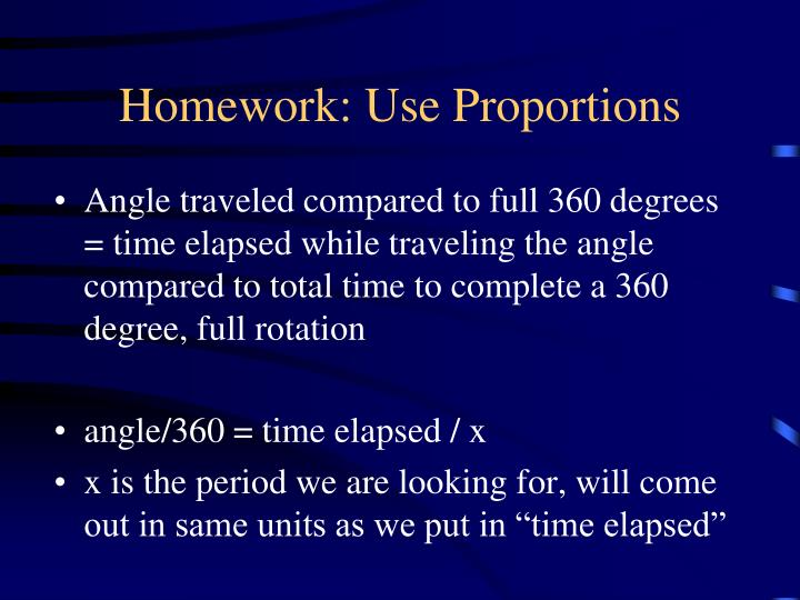 Homework: Use Proportions