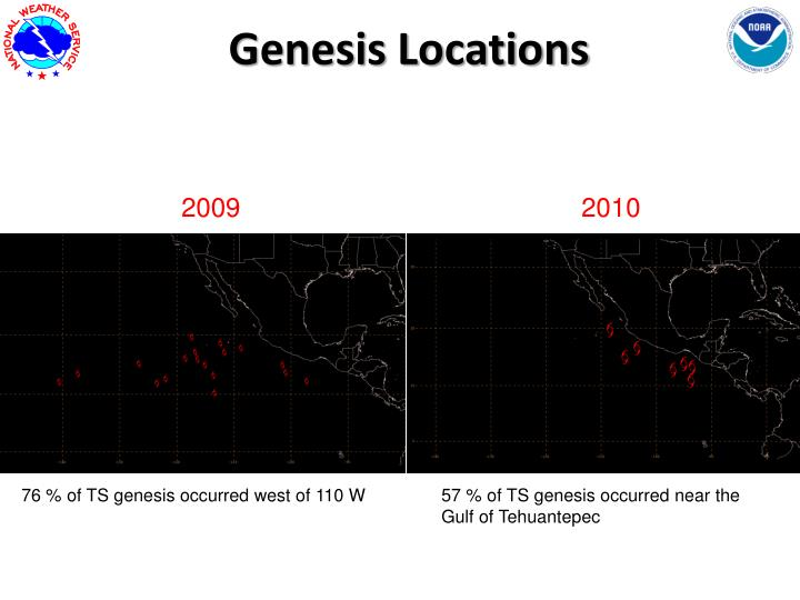 Genesis Locations