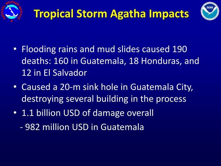 Tropical Storm Agatha Impacts