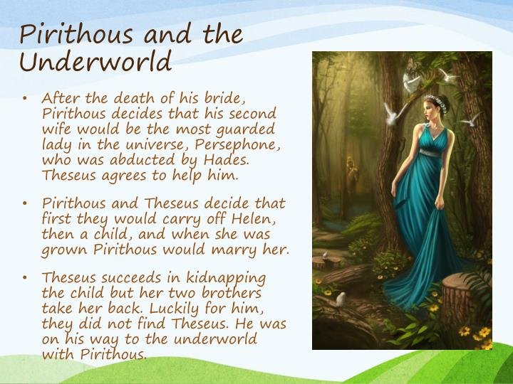 Pirithous and the Underworld