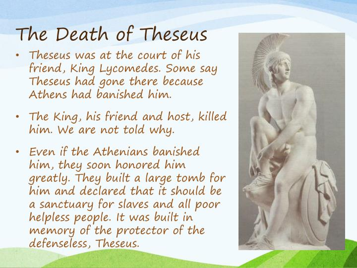 The Death of Theseus