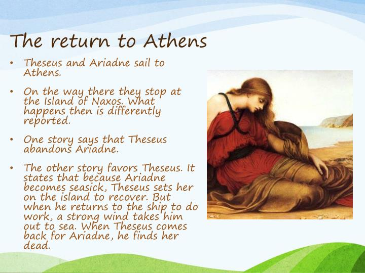 The return to Athens