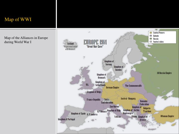 Map of WWI