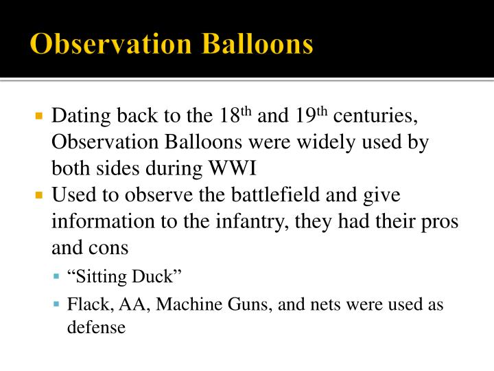 Observation Balloons