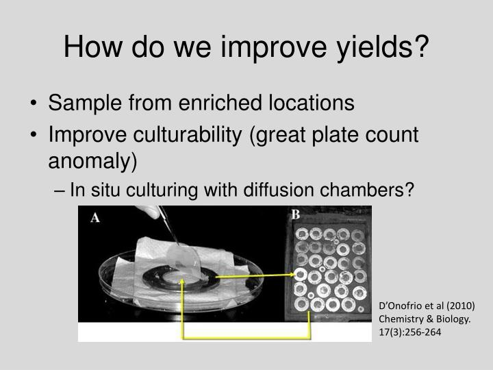 How do we improve yields?
