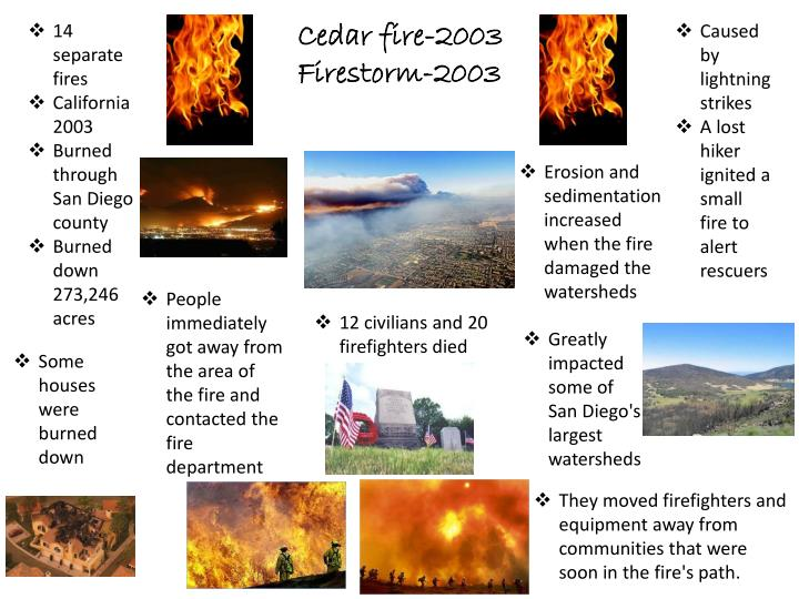 14 separate fires
