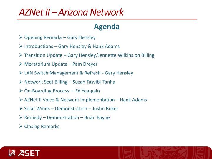 AZNet II – Arizona Network