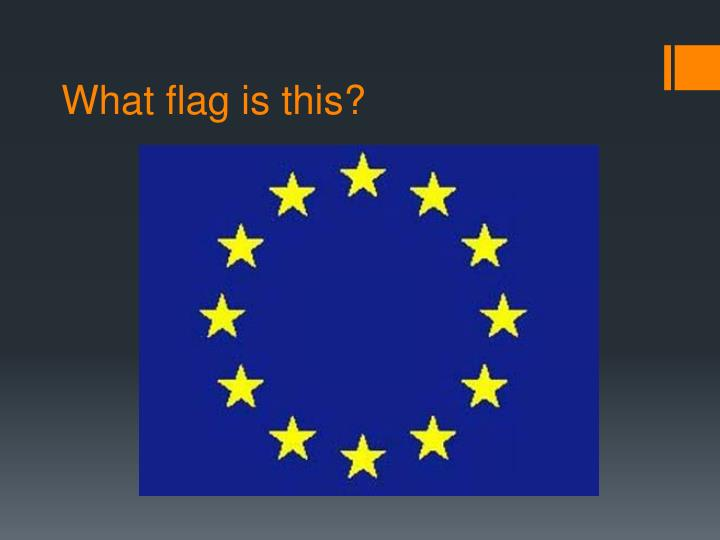 What flag is this