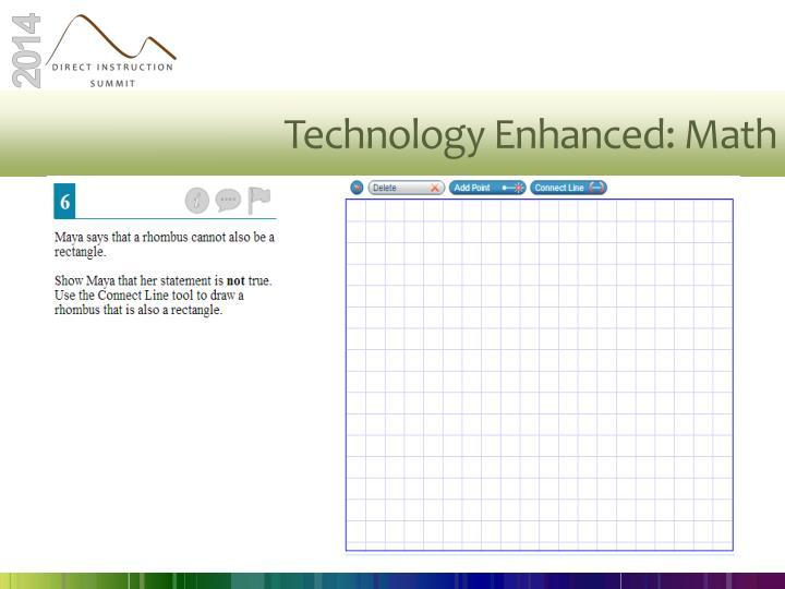 Technology Enhanced: Math