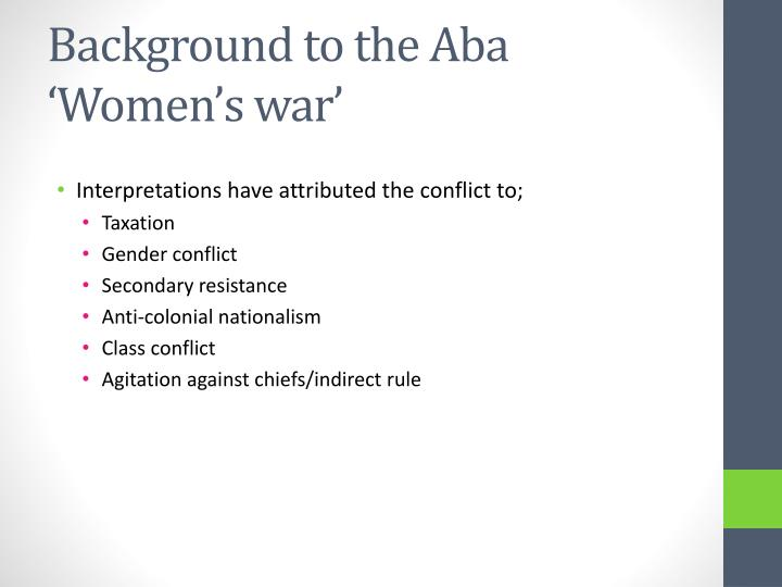 Background to the Aba 'Women's war'