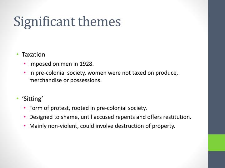 Significant themes