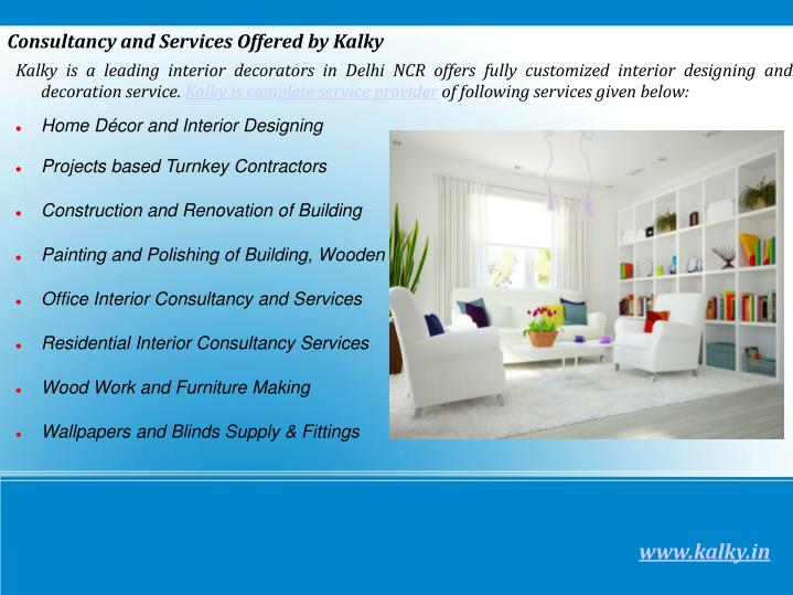 Kalky is a leading interior decorators in Delhi NCR offers fully customized interior designing and decoration service.