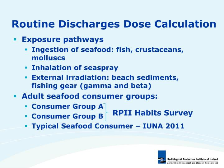 Routine Discharges Dose Calculation