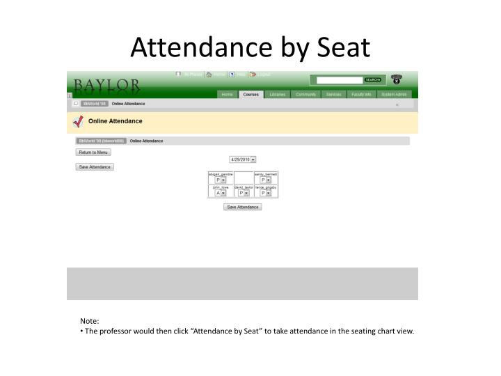 Attendance by Seat