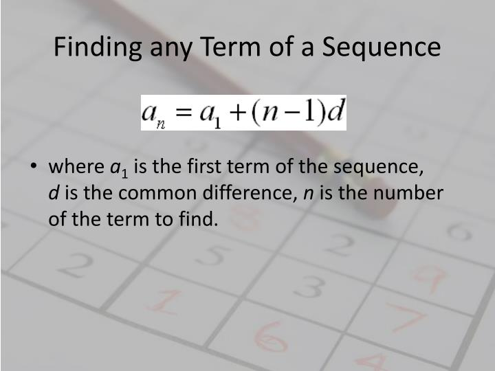 Finding any Term of a Sequence