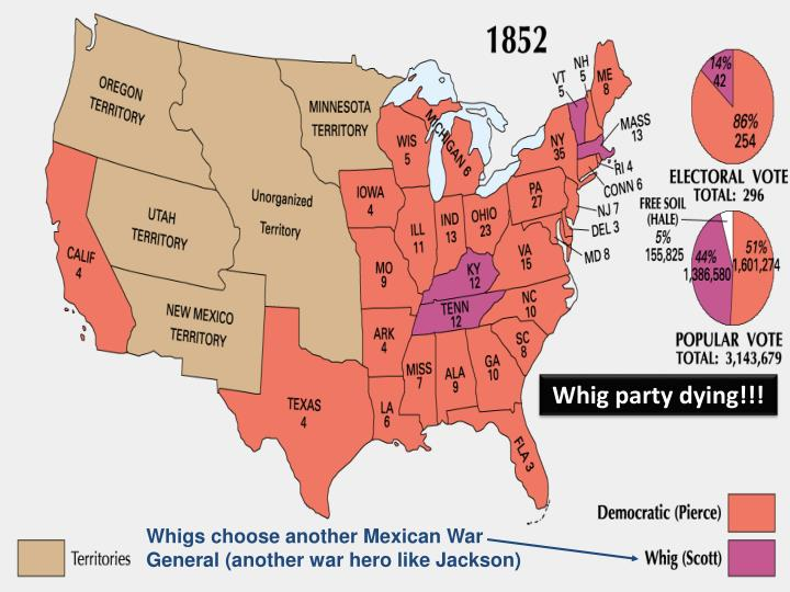 Whig party dying!!!