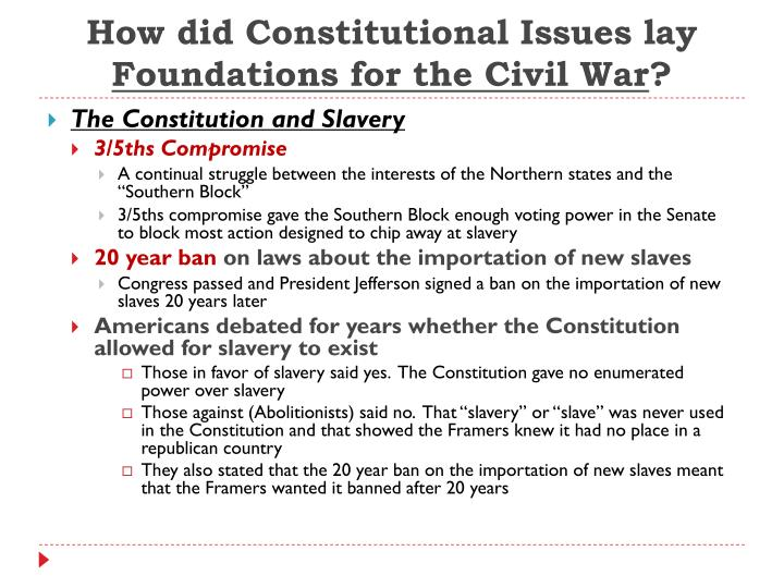 How did Constitutional Issues lay