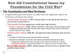 how did constitutional issues lay foundations for the civil war1