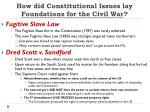 how did constitutional issues lay foundations for the civil war2