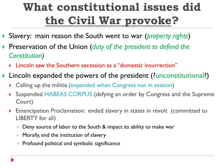 What constitutional issues did