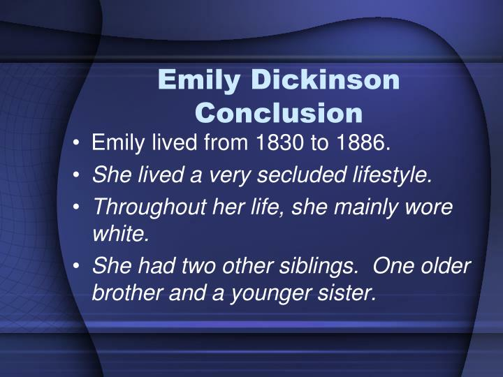 Emily Dickinson Conclusion