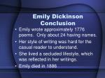 emily dickinson conclusion1