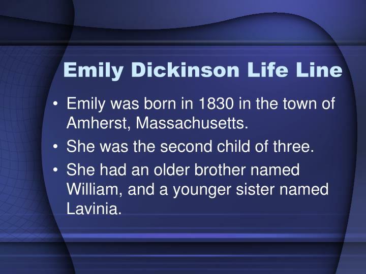 Emily Dickinson Life Line