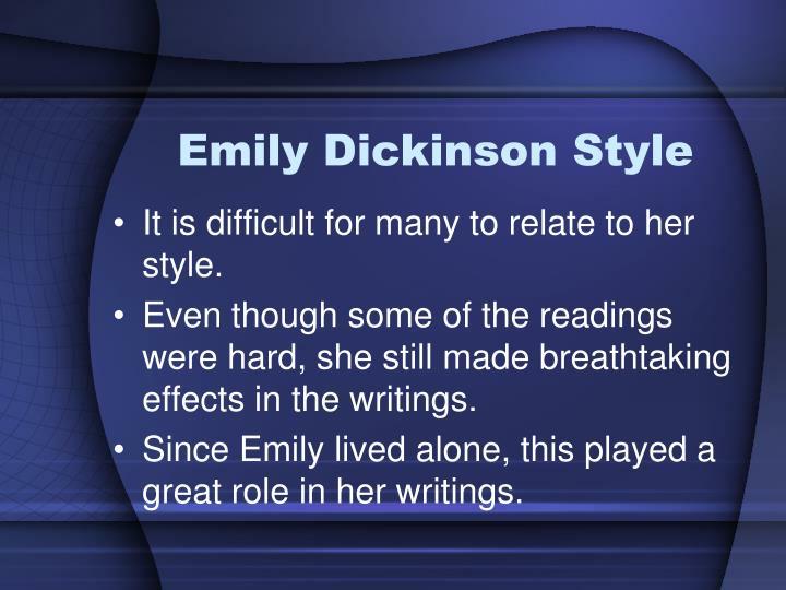 Emily Dickinson Style