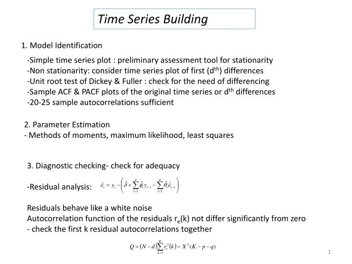 Time Series Building