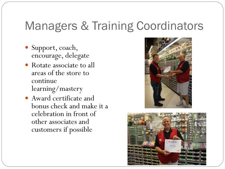 Managers & Training Coordinators