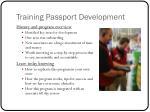 training passport development