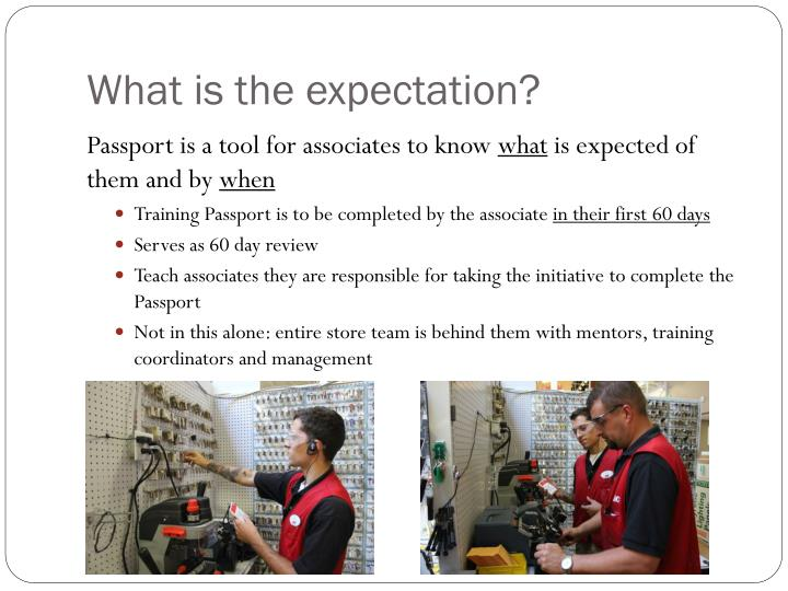 What is the expectation?