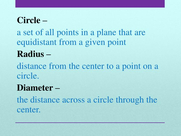 Circle –