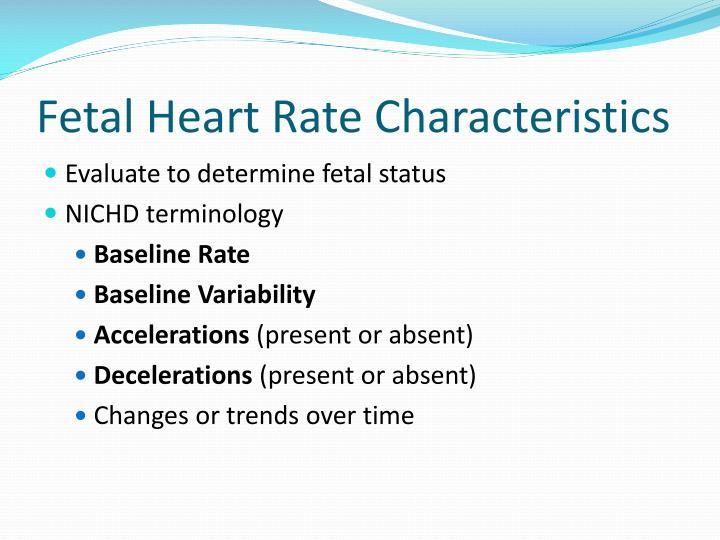Fetal Heart Rate Characteristics
