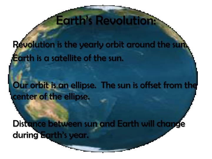 Earth's Revolution: