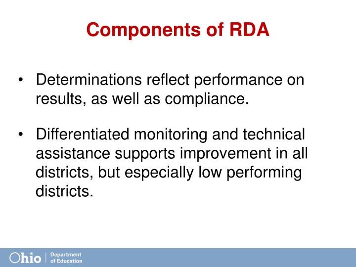 Components of RDA