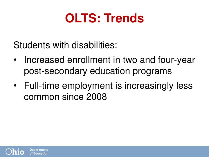 OLTS: Trends