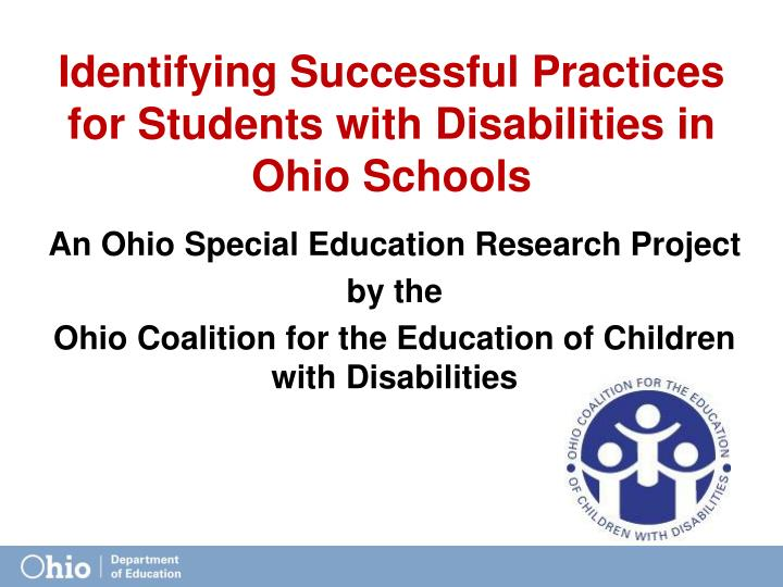 Identifying Successful Practices for Students with Disabilities in Ohio Schools