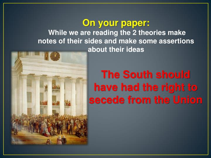 On your paper: