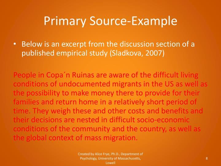 Primary Source-Example