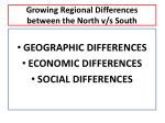 growing regional differences between the north v s south