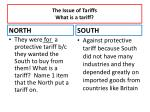 the issue of tariffs what is a tariff