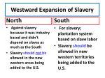 westward expansion of slavery