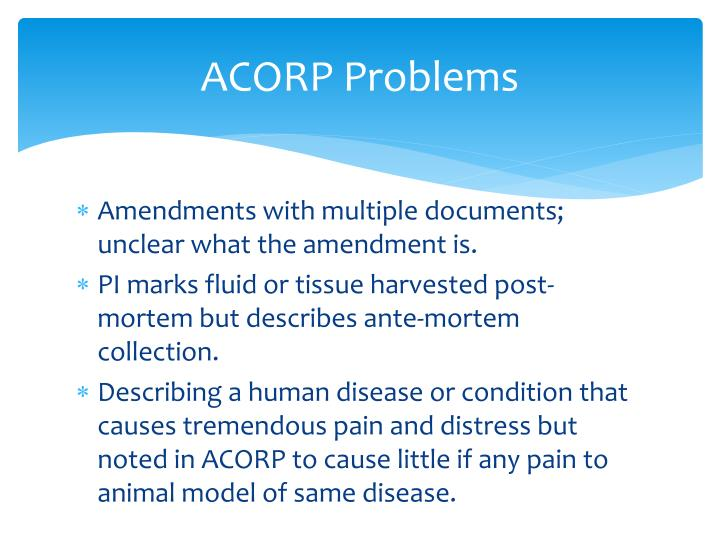 ACORP Problems