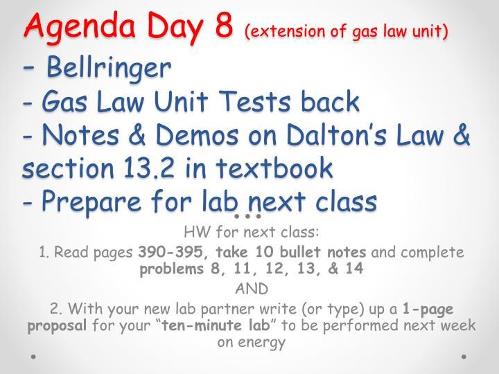 Agenda Day 8