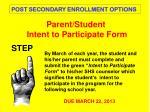 parent student intent to participate form