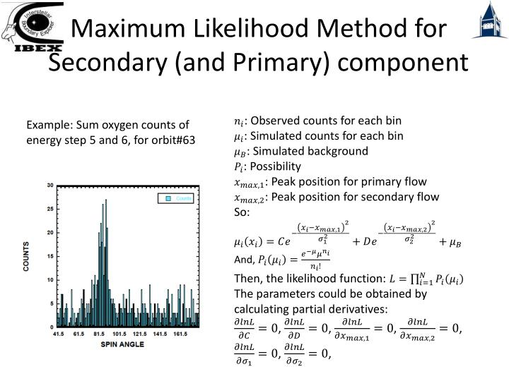 Maximum Likelihood Method for Secondary (and Primary) component