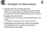 strategies of data analysis