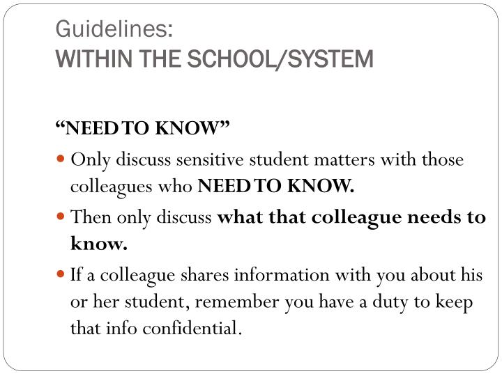 Guidelines: