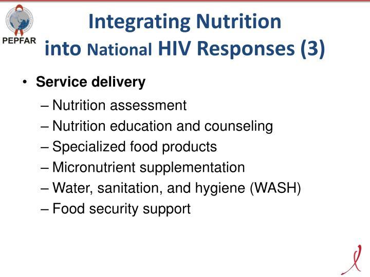 Integrating Nutrition